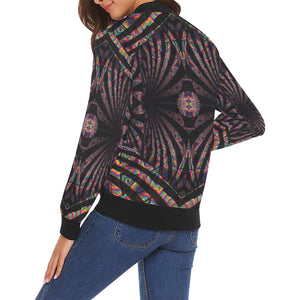 Hidden Place All Over Print Bomber Jacket for Women (Model H19)