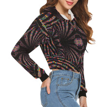 Hidden Place All Over Print Crop Hoodie for Women (Model H22)