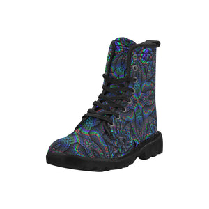 Elemental Water Martin Boots for Women (Black) (Model 1203H)