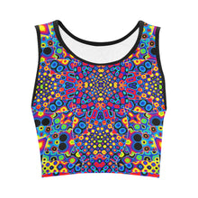 Alien Flora Women's Crop Top (Model T42)