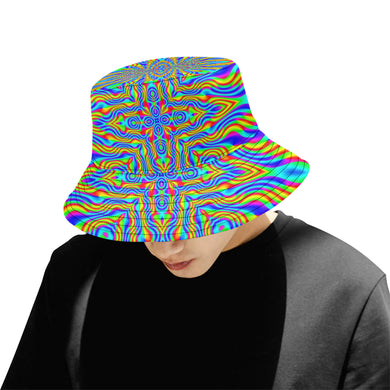 Higher Frequencies All Over Print Bucket Hat for Men