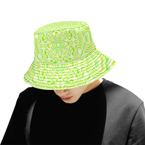 Lemon Lime All Over Print Bucket Hat for Men