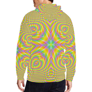 Pure All Over Print Full Zip Hoodie for Men (Model H14)