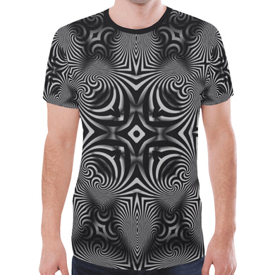 B+W New All Over Print T-shirt for Men (Model T45)