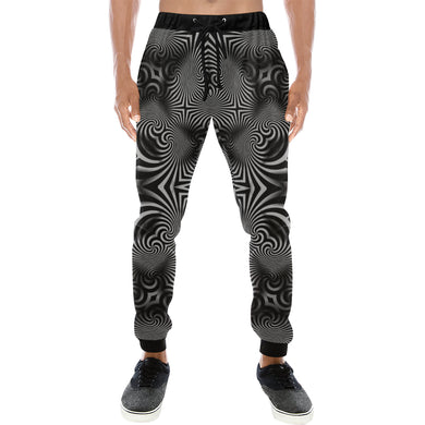 B+W Men's All Over Print Sweatpants (Model L11)
