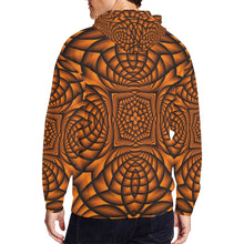 Pumpkin All Over Print Full Zip Hoodie for Men (Model H14)