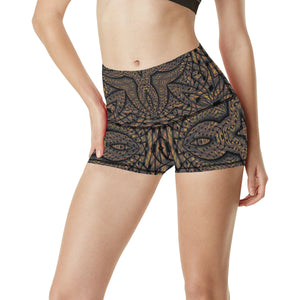 Elemental Earth Women's All Over Print Yoga Shorts (Model L17)