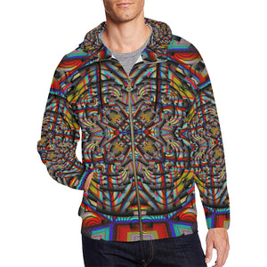 Generator All Over Print Full Zip Hoodie for Men (Model H14)