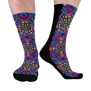 Alien Flora Mid-Calf Socks (Black Sole)