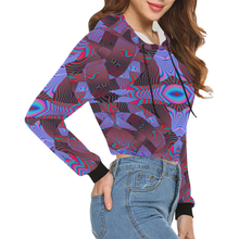 Artificial Intelligence All Over Print Crop Hoodie for Women (Model H22)