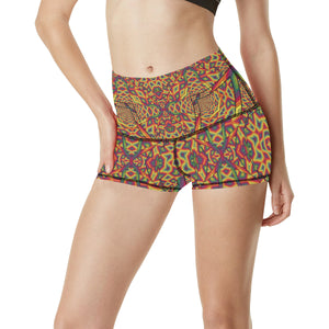 Beauty in Chaos Women's All Over Print Yoga Shorts (Model L17)