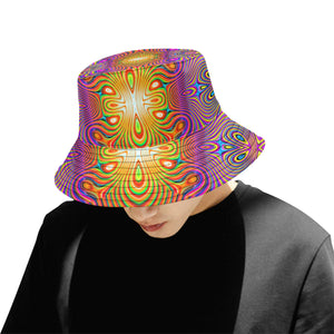 Energy Fields All Over Print Bucket Hat for Men