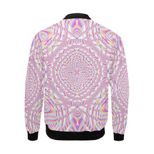 Pink Waves All Over Print Bomber Jacket for Men (Model H19)