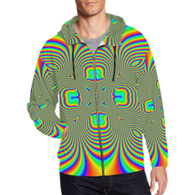 Color Flower All Over Print Full Zip Hoodie for Men (Model H14)