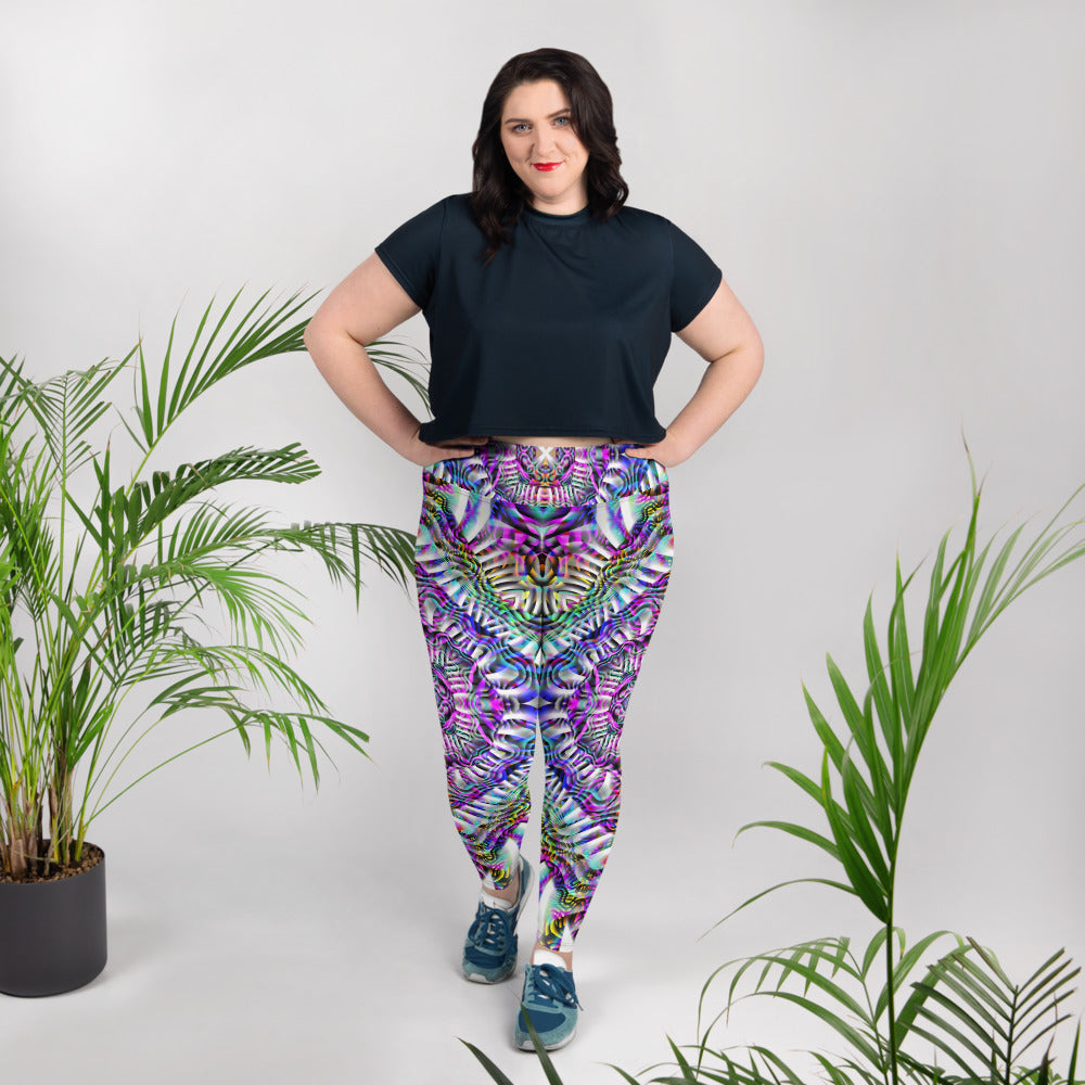 Coral Reefer Plus Size Leggings