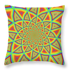 Colorspiral - Throw Pillow