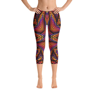 Elemental Fire Capri Leggings