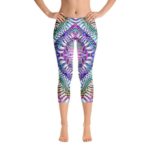 Coral Reefer Capri Leggings