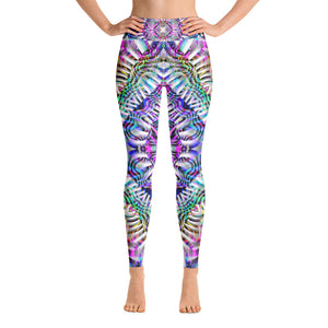 Coral Reefer Yoga Leggings
