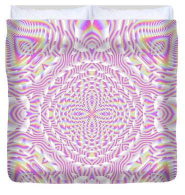 Pink Waves - Duvet Cover