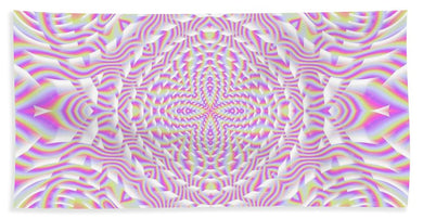 Pink Waves - Beach Towel