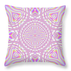 Pink Waves - Throw Pillow