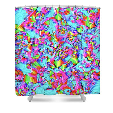 Rainbowbubbles - Shower Curtain