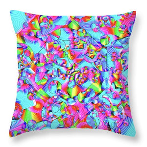 Rainbowbubbles - Throw Pillow