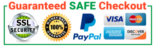 Guaranteed Safe Checkout Buyer Protection 100% on All Orders Money Back
