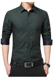 CHECKERED PLAID DRESS SHIRT (3 COLOURS)