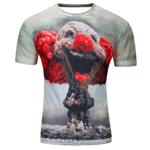 ATOMIC CLOWN 3D PRINT T-SHIRT