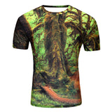 FOREST PATH 3D PRINT T-SHIRT