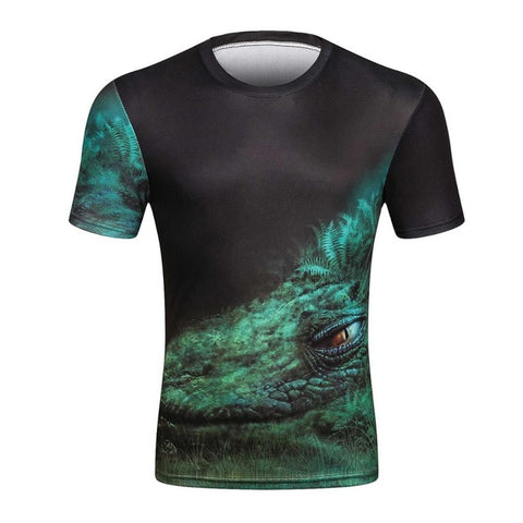 LURKING LIZARD 3D PRINT T-SHIRT