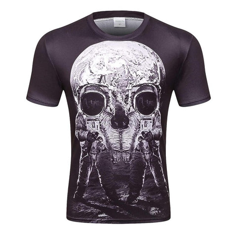 Astronaut Illusion 3D Printed Watercolour Short Sleeve T-Shirt