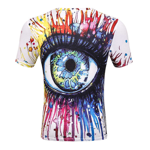 OPEN EYES 3D PRINT T-SHIRT