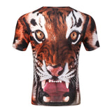 TIGER FACE 3D PRINT T-SHIRT