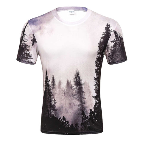 WINTER FOREST 3D PRINT T-SHIRT