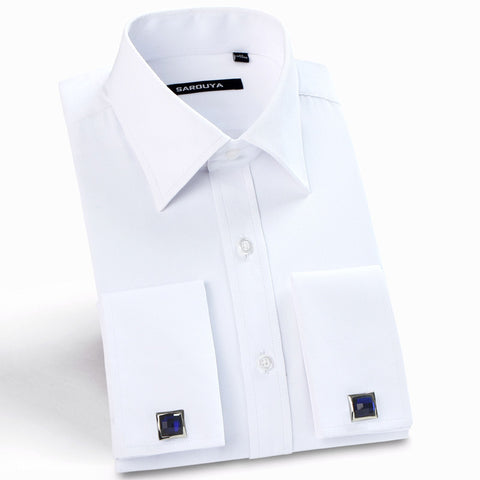 FORMAL FRENCH CUFF DRESS SHIRT (CUFFLINKS INCLUDED)