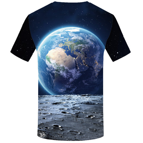 EARTH & MOON 3D PRINT T-SHIRT