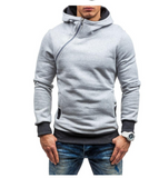 SLIM FIT HOODIE WITH CROSS CHEST ZIPPER