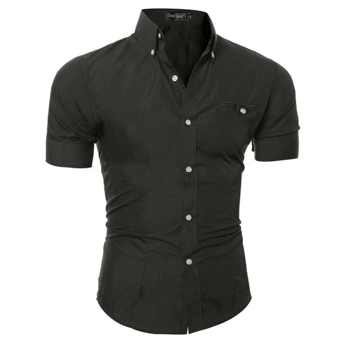 SLIM HORSE BLACK BUTTON DOWN