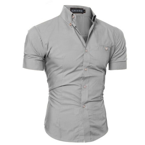 SLIM HORSE GRAY BUTTON DOWN