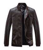 TRADITIONAL FRONT ZIP LEATHER MOTO JACKET