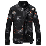BOMBER JACKET WITH NATURE DESIGN