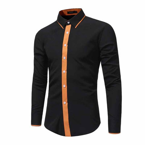 SIMPLE & SLEEK LONG SLEEVE SOLID COLOUR DRESS SHIRT