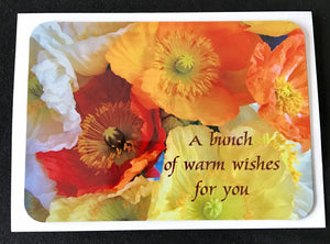 MAGNET CARD   A Bunch of Warm Wishes (Poppies)