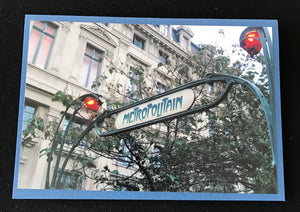 GREETING CARD   PARIS VIGNETTES   Metro Sign   SPECIAL PRICE