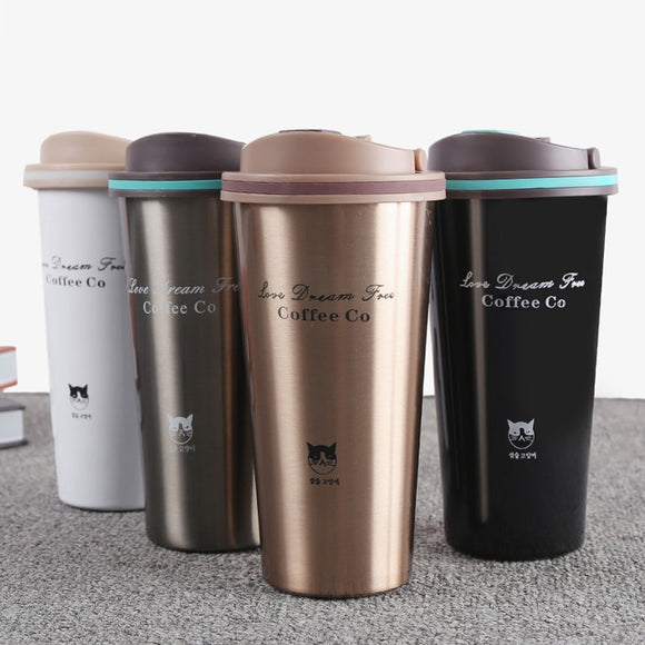 500ML Thermos Mug Coffee Cup with Lid Thermocup Seal Stainless Steel