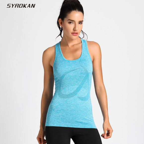 SYROKAN Women's Activewear Cool Mesh Workout Running Tank Tops Quick Dry