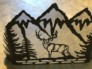 Fireplace Screen: Deer/Black